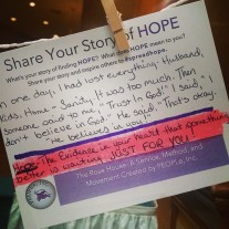 #spreadhope Share your story of hope!