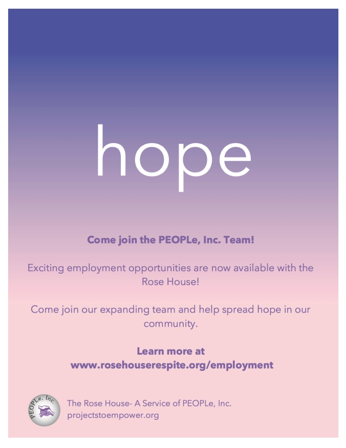 Employment Opportunities with the Rose House Hope Poster